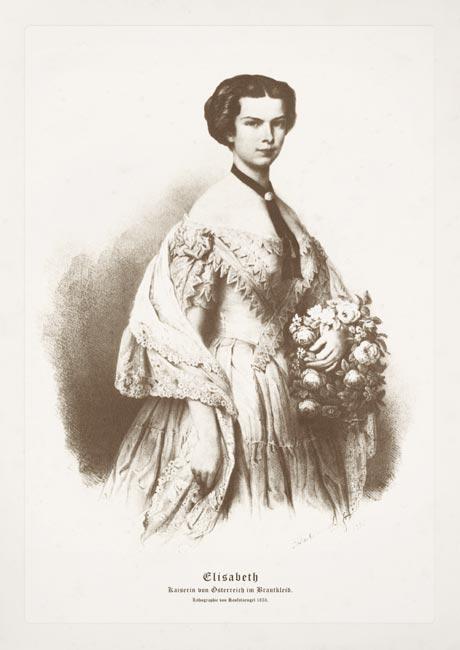 Elisabeth Sisi Brautkleid 1853 K&K Monarchie Bütten 68 - Billerantik