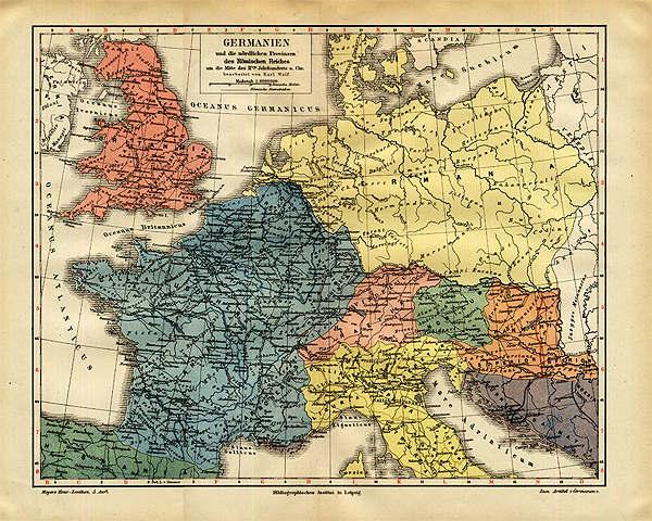 germanien karte Landkarte Germanien | Deutschland Karte