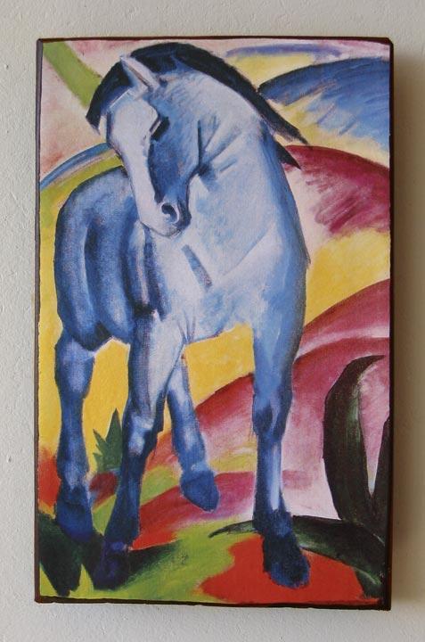 blaues pferd i von franz marc unikat auf 100 jahre altem ziegel 3 blauer reiter ebay. Black Bedroom Furniture Sets. Home Design Ideas