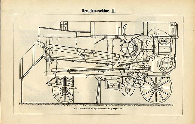 Text von 1902 BBB Heuerntemaschinen Aufzug Rechen  2 Originale Tafeln 16x25cm