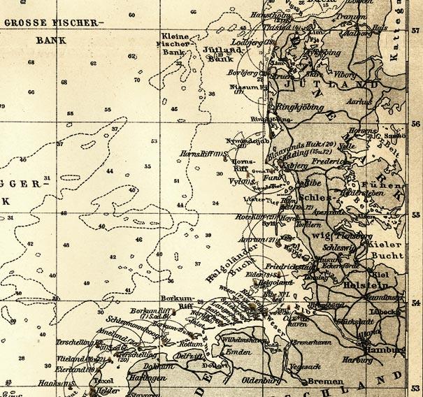Seekarte Der Nordsee Seefahrt Deutsche Kuste Sxz 1895 Faksimile 2