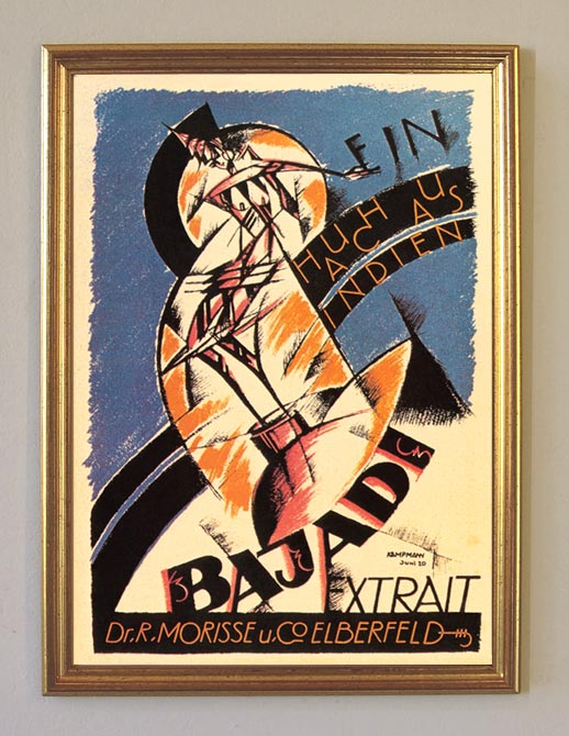 Bajadi Ein Hauch aus Indien Parfüm Plakat um 1921 Faksimile 58 im Goldrahmen