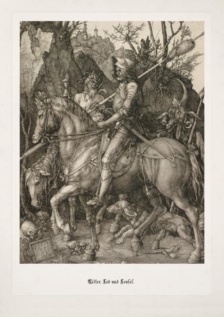 Albrecht Dürer Ritter Tod und Teufel Pferd Reiter Humanismus Lanze Thoma 12