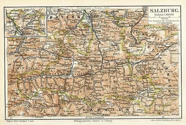Salzkammergut Karte.Salzburg Original Karte K K Salzkammergut Attersee Billerantik